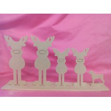 4mm MDF reindeer family design 2